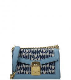 Miu Miu Blue Signature Small Shoulder Bag