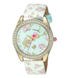 Betsey Johnson Multicolor Printed Dial Watch