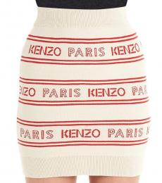 Kenzo Multi color All Over Logo Jacquard Skirt