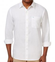 White Sea Glass Breezer Linen Shirt