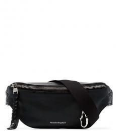Alexander McQueen Black Solid Zip Belt Bag
