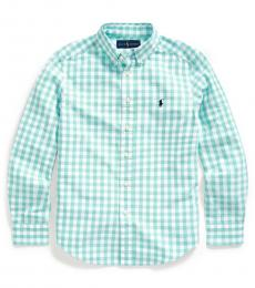 Ralph Lauren Boys Light Mint Gingham Shirt