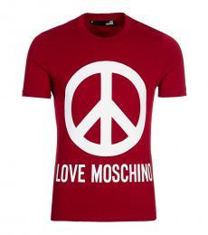 Love Moschino Cherry Graphic Logo T-Shirt