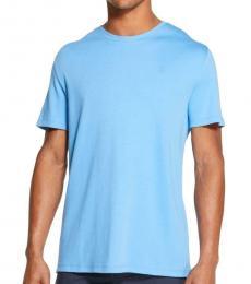 Blue Crewneck Solid T-Shirt