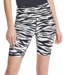 DKNY BlackWhite High-Waist Bike Shorts