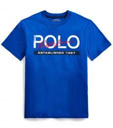 Ralph Lauren Boys Pacific Royal Logo T-Shirt