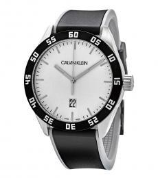 Calvin Klein Black-Silver Logo Modish Watch