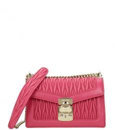 Miu Miu Fuchsia Confidential Mini Shoulder Bag