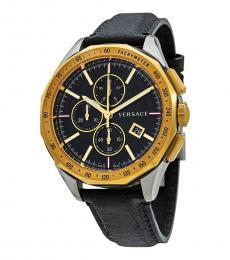 Versace Black Glaze Chronograph Watch