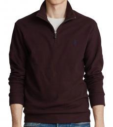 Ralph Lauren Aged Wine Double-Knit Half-Zip Pullover