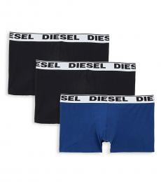 Diesel Black Blue Kory 3-Pack Boxer Briefs
