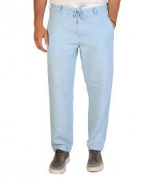 Armani Jeans Light Blue Waistband Casual Pants