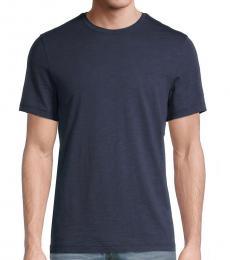 Michael Kors Navy Blue Solid T-Shirt
