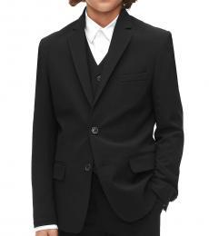 Calvin Klein Boys Black Infinite Stretch Suit Jacket
