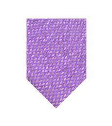 Armani Collezioni Bright Purple Geometric Tie