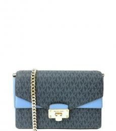 Michael Kors French Blue Kinsley Medium Shoulder Bag