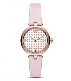 Emporio Armani Pink-Rose Gold Logo Watch