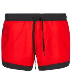 Moschino Red Logo Swimmimg Trunk