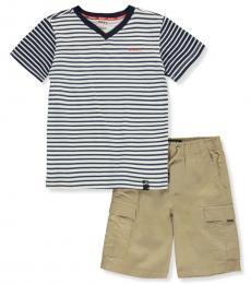 DKNY 2 Piece T-Shirt/Shorts Set (Little Boys)