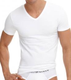Emporio Armani White V-Neck T-Shirt