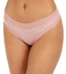 Calvin Klein  Alluring Blush Striped-Waist Thong Underwear
