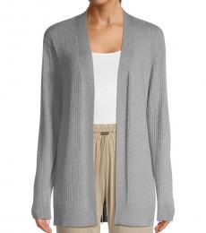 Calvin Klein Grey Open-Front Cardigan