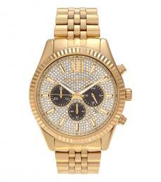 Michael Kors Gold Lexington Chrono Watch