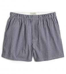 J.Crew Navy Blue Gingham Woven Boxers