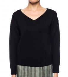 Diane Von Furstenberg Black V-Neck Sweater