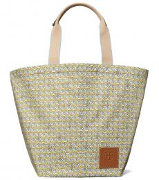 Tory Burch Light Blue Printed Large Tote
