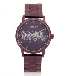 Coach Metallic Purple Dial Watch