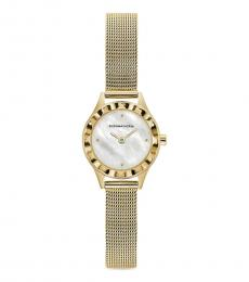 BCBGMaxazria Golden Mother Of Pearl Watch