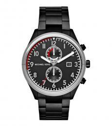 Michael Kors Black Saunder Chronograph Watch