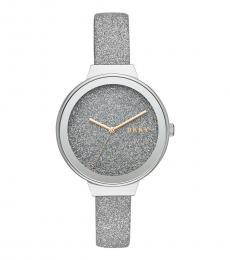 DKNY Silver Astoria Glitter Watch