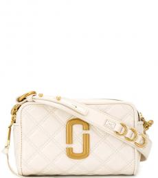 Marc Jacobs White Quilted Softshot Small Crossbody Bag