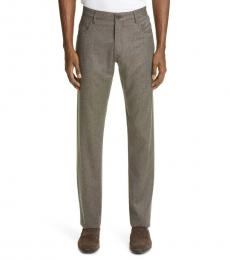 Canali Brown Heathered Sport Pants