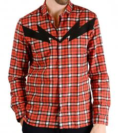 Red Thunderbolt Checked Shirt