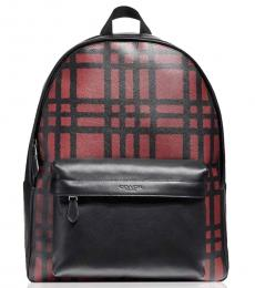 Red Checks Large Backpack
