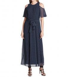 Twilight Polka Dot Ruffled Dress