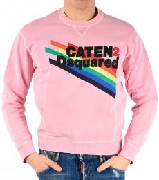 Dsquared2 Pink Printed Dan Fit Sweatshirt