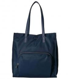 Navy North/South Large Tote