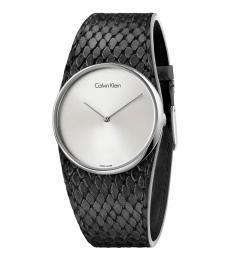 Black Spellbound Silver Dial Watch