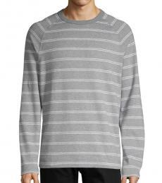 Hugo Boss Grey Striped Cotton Long-Sleeve Sweatshirt