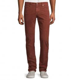 AG Adriano Goldschmied Sulfur Red Matchbox Slim Straight Pants