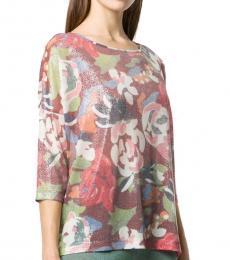 Multi Color Floral Knit Top