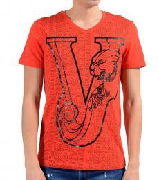 Orange Graphic Print T-Shirt