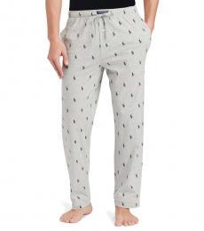 Ralph Lauren Andover Pony-Print Jersey Pajama Pants