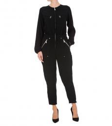 Michael Kors Black Cady Utility Jumpsuit