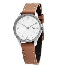 Calvin Klein Brown Endless Silver Dial Watch