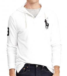Ralph Lauren White Logo Mesh Hoodie